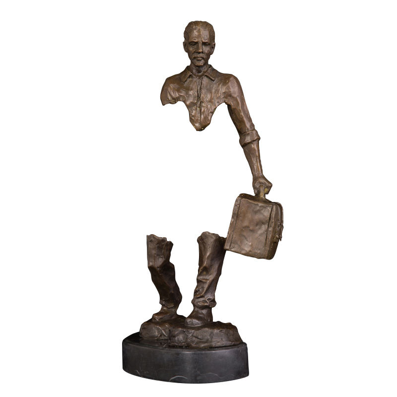 Escultura de bronce para hombre, escultura para caminar, escultura para casa, estatua de decoración, escultura Estatuilla de resina decorativa de gato para decoraciones del hogar, regalo de boda creativo europeo, figura de animal, escultura de decoración para el hogar