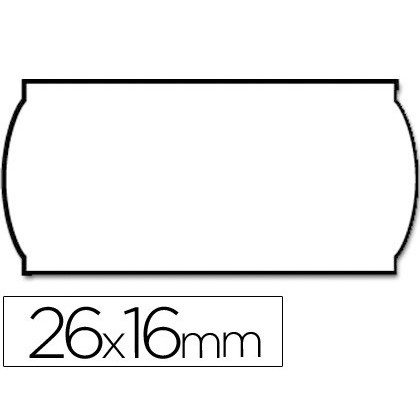 METO LABELS WAVY 26X16 MM SMOOTH REMOVABLE BL-ROLL 1200 TAGS