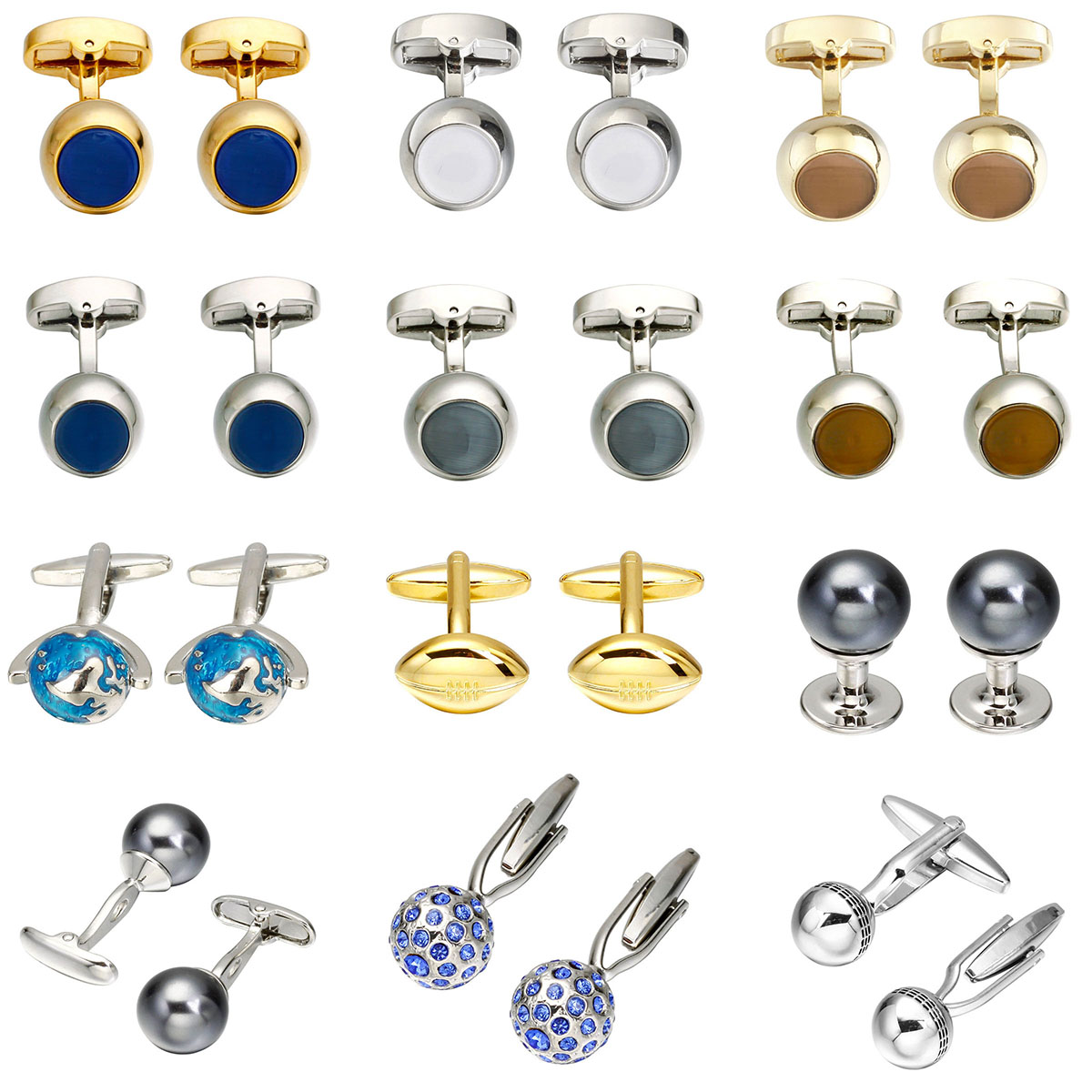 Novelty Fashion Shirt Cufflink Metal Knot/Bee/Capsule/Beard/Baseball/Umbrella Cufflinks For Mens Copper Material Cuff Links