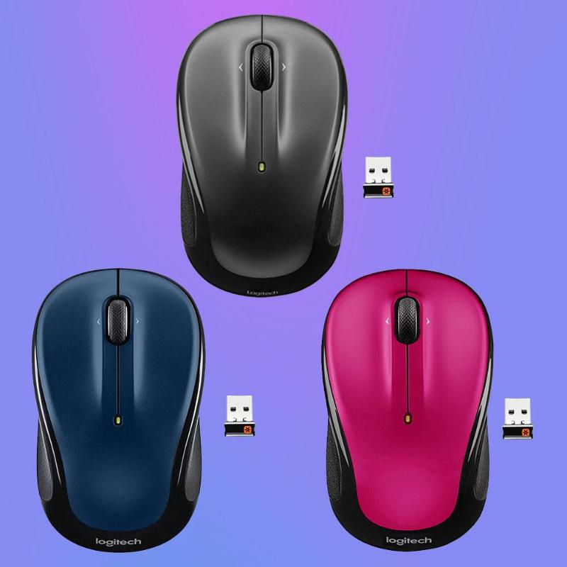 Portable Logitech M325 3 Buttons USB Wireless 1000 DPI 2.4GHz Unifying Optical Mouse Four-way Roller High Accuracy New Arrival