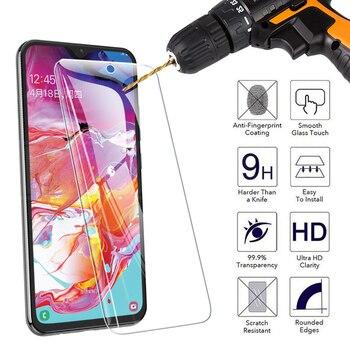 Перейти на Алиэкспресс и купить 9H Защитное стекло для Samsung Galaxy A10 A20 A30 A40 A50 A60 A70 A80 A90 закаленное защитное стекло для экрана M10 M20 M30 M40 стеклянная пленка