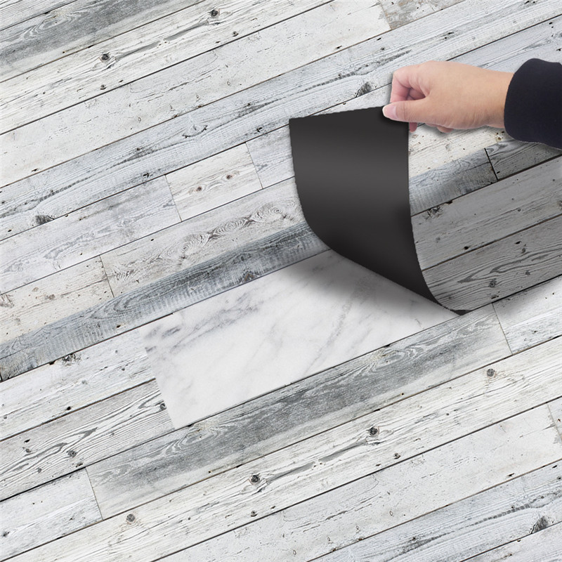 20x300CM Home Self-adhesive Decor Floor Plank Stickers,Renovation  DIY Wall Stickers Waterproof For Kitchen Bathroom Kids Room
