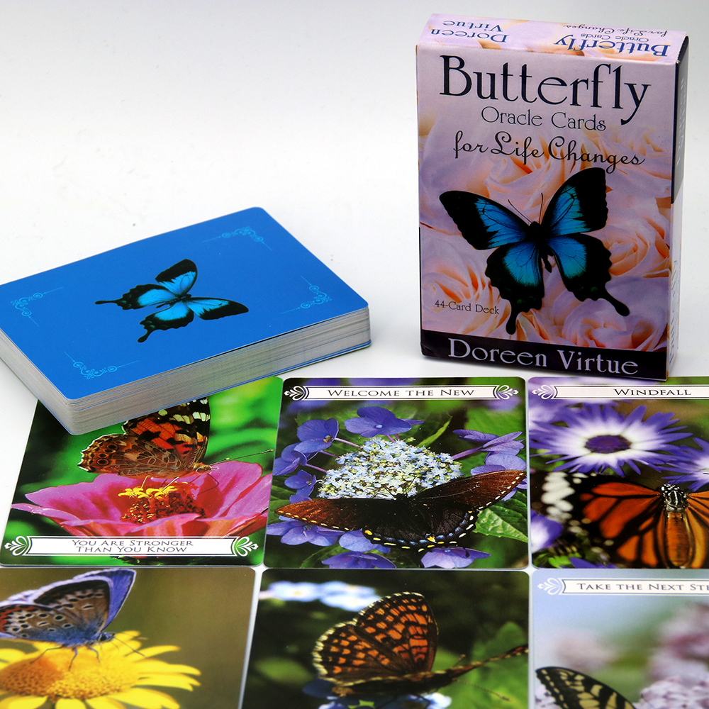 Butterfly Oracle Cards For Life Changes: A 44-Card Deck And Guidebook Cards Real-life Challenges Manage Understand Any Changes