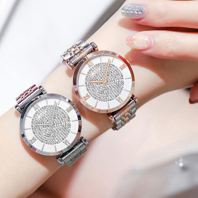 Women Watches Simple Romantic Rose Gold Ladies Watch 4