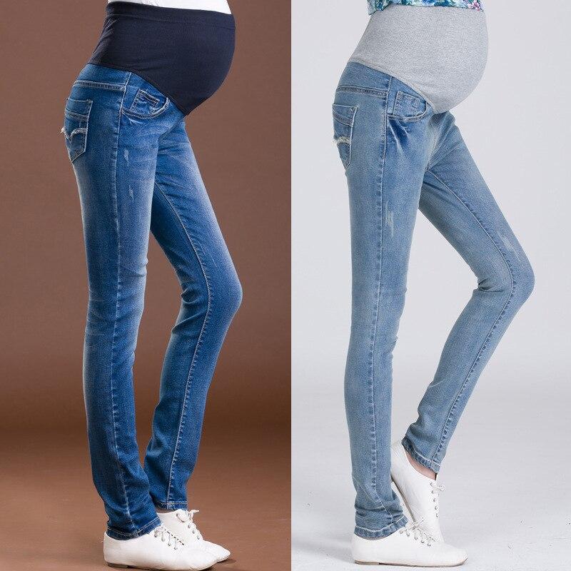 Skinny Denim Jeans For Pregnant Women Clothes High Waist Maternity Pants Nursing Trousers Abdominal Maternidad Pregnancy Jeans