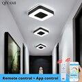 Круглая Люстра квадратная люстра современные светодиодные лампы для спальни гостиной освещение светодиодные лампы 18 Вт