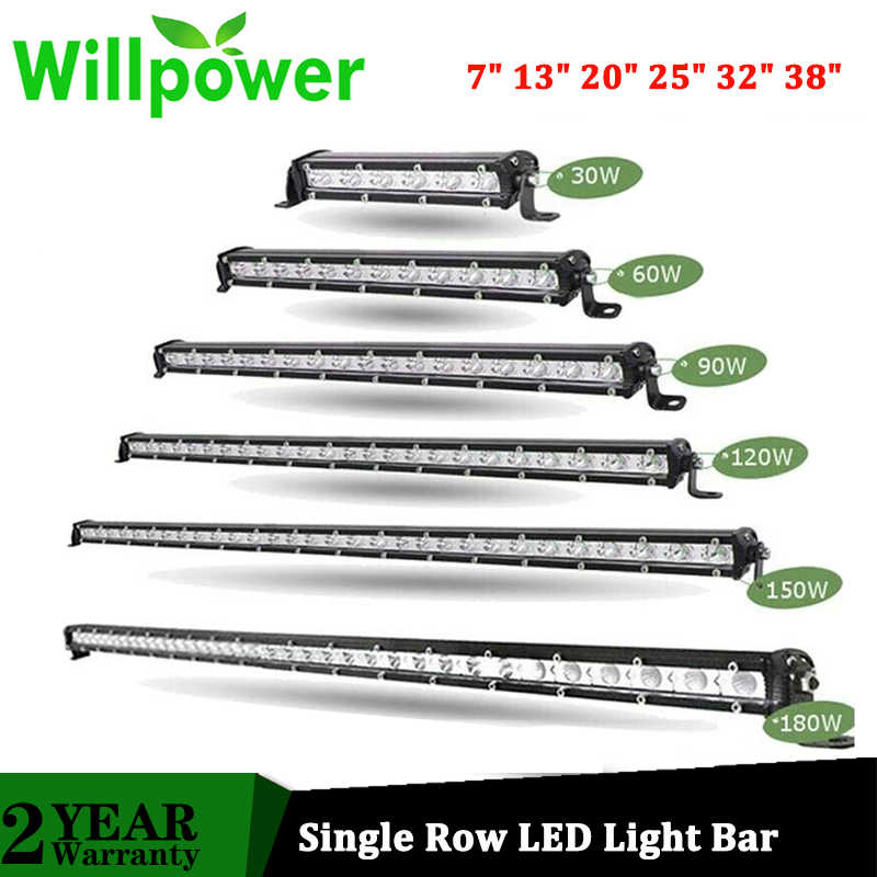 25inch 120W Single Row LED Light Bar Offroad  Spot Driving SUV UTE Slim PK 22//32