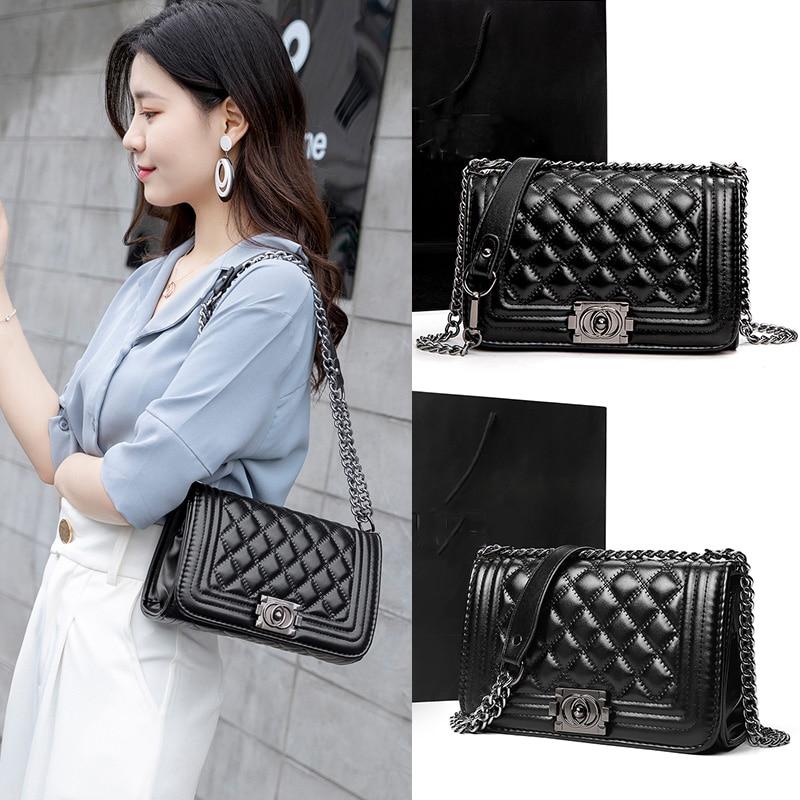 Women Bag Shoulder Bag For Women 2019 High Quality Fashion Leather Bags Diamond Lattice New Handbag Ladies Casual Crossbody Bags