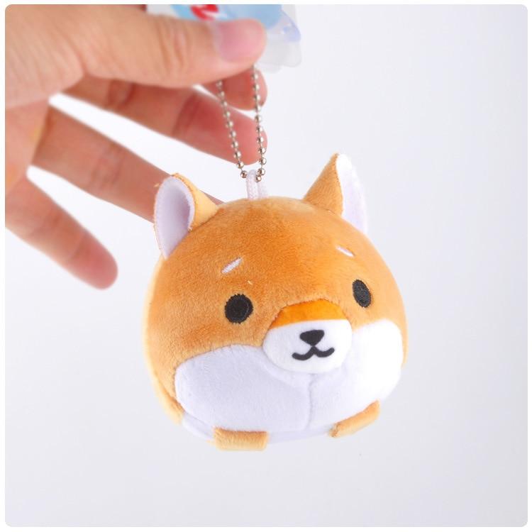 Japan Shiba Inu  Plush Bag Pendant Toy Doll Clamshell Doll Plush Keychain 11cm Wj04