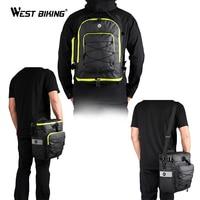 WEST BIKING 3 in 1 Cycling Backpack Handbag Trunk Bags for Bicycle Carrier Bag Waterproof 75L MTB Bike Travel Rear Seat Bags