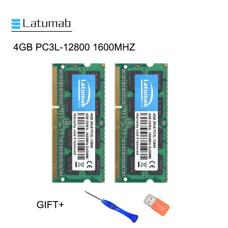 4pcs 4GB Samsung Chips DDR3 1600MHz PC3-12800 204PIN SODIMM Laptop RAM NON-ECC /&