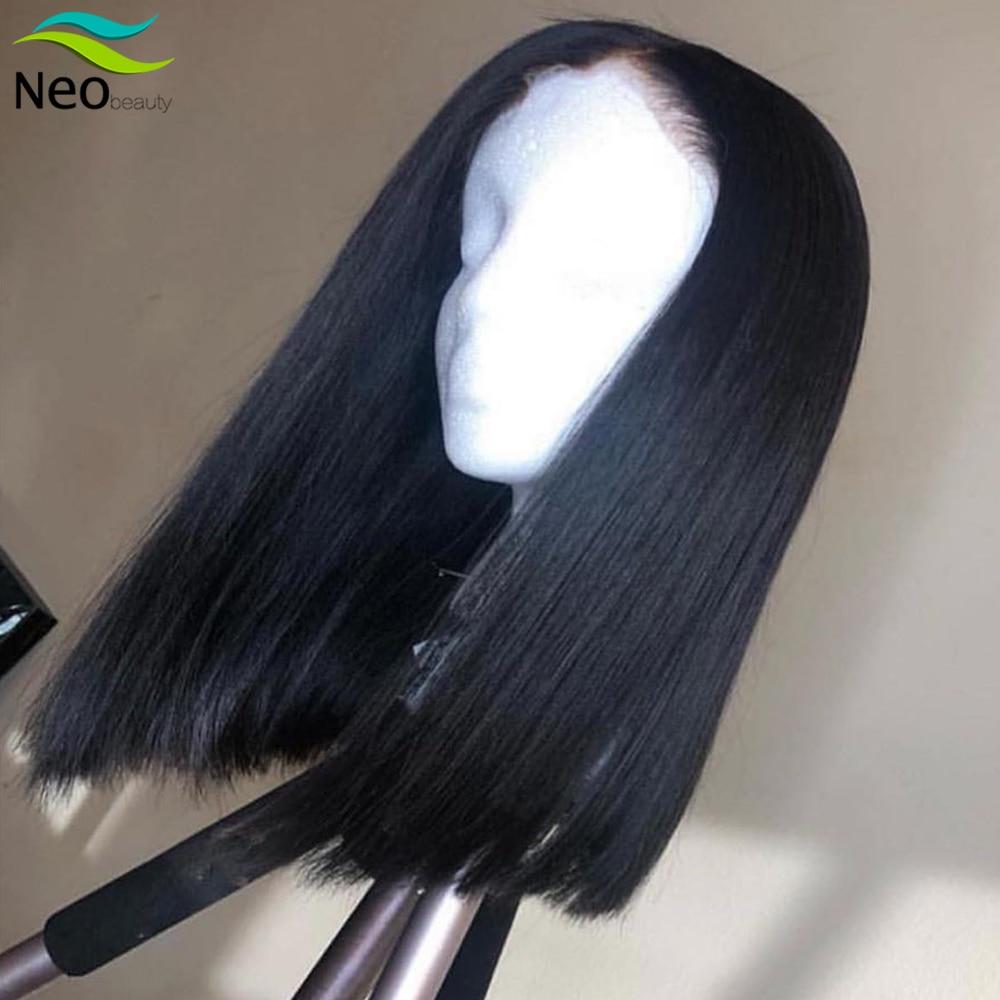8 10 12 14 16 polegadas bob peruca frente do laço perucas de cabelo humano 13x4 preplucked peruca do laço para o transporte livre natural remy curto bob perucas