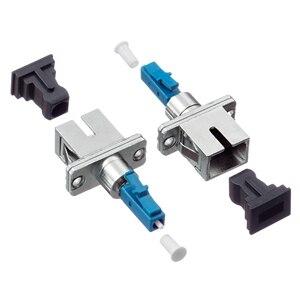 Image 3 - 2 pcs/lot SC femelle à LC mâle LC/UPC SC/UPC adaptateur à fibres optiques pour Fiber optique monomode Simplex pour queue de cochon