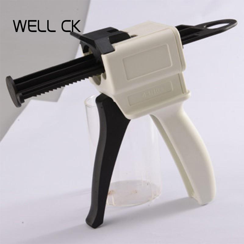 50pcs Mixing Tips Nozzles Dispenser Gun 1:1 1:2 Dental Materials Impression Odontologia Dentist Dentistry Instrument Tools