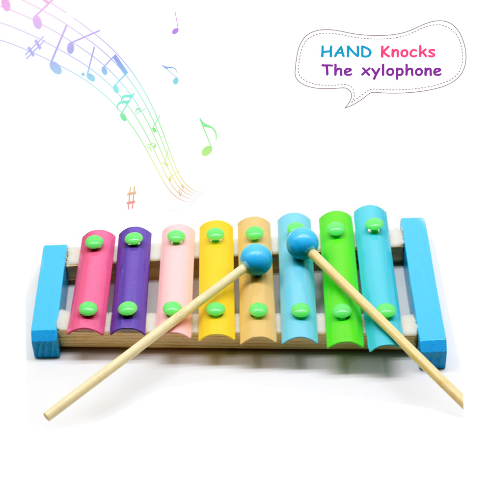 8Notes Kid Baby Musical Toys Xylophone Wisdom Development Wooden Instrument  Baby Early Learning Education Music Toy Drop Ship