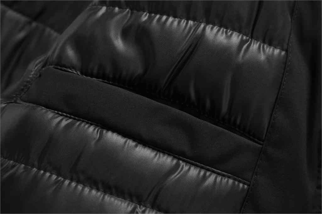 الرجال العلامة التجارية الشتاء فو الفراء طوق طويل سميكة القطن سترات سترات معطف الرجال مقنعين جيوب أبلى سترة مضادة للماء سترة الرجال