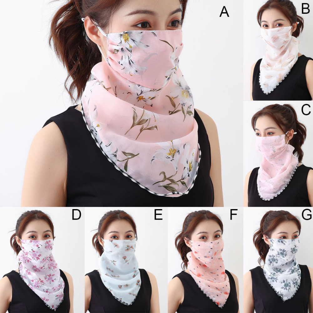 Women's Protective Washable Cotton Scarf Mask 7