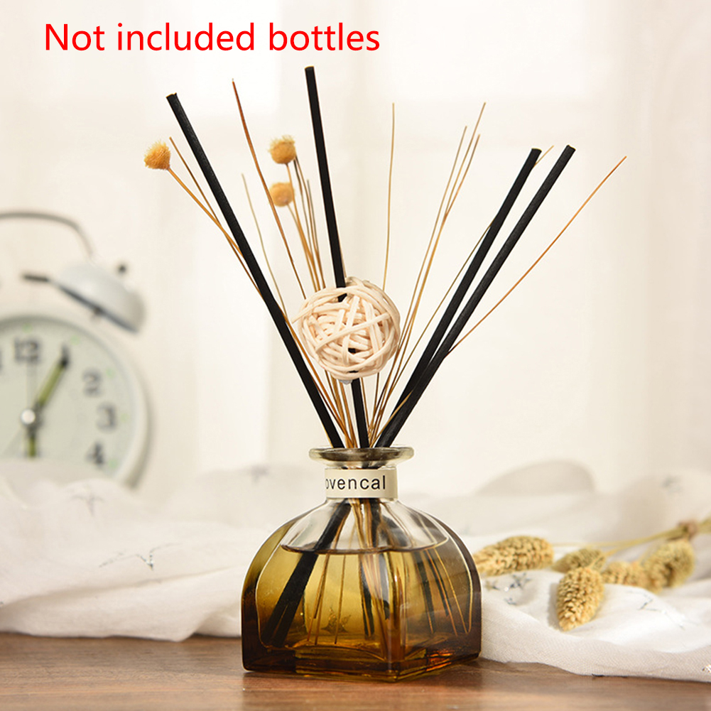 Portable Scent Rattan Sticks Air Fragrance Purifying Fake Flower Essential Oil No Fire Aroma Diffuser Set For Room Car Office
