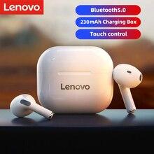 Oryginalne słuchawki bezprzewodowe Lenovo LP40 TWS słuchawki Bluetooth sterowanie dotykowe słuchawki sportowe słuchawki douszne do telefonu Android