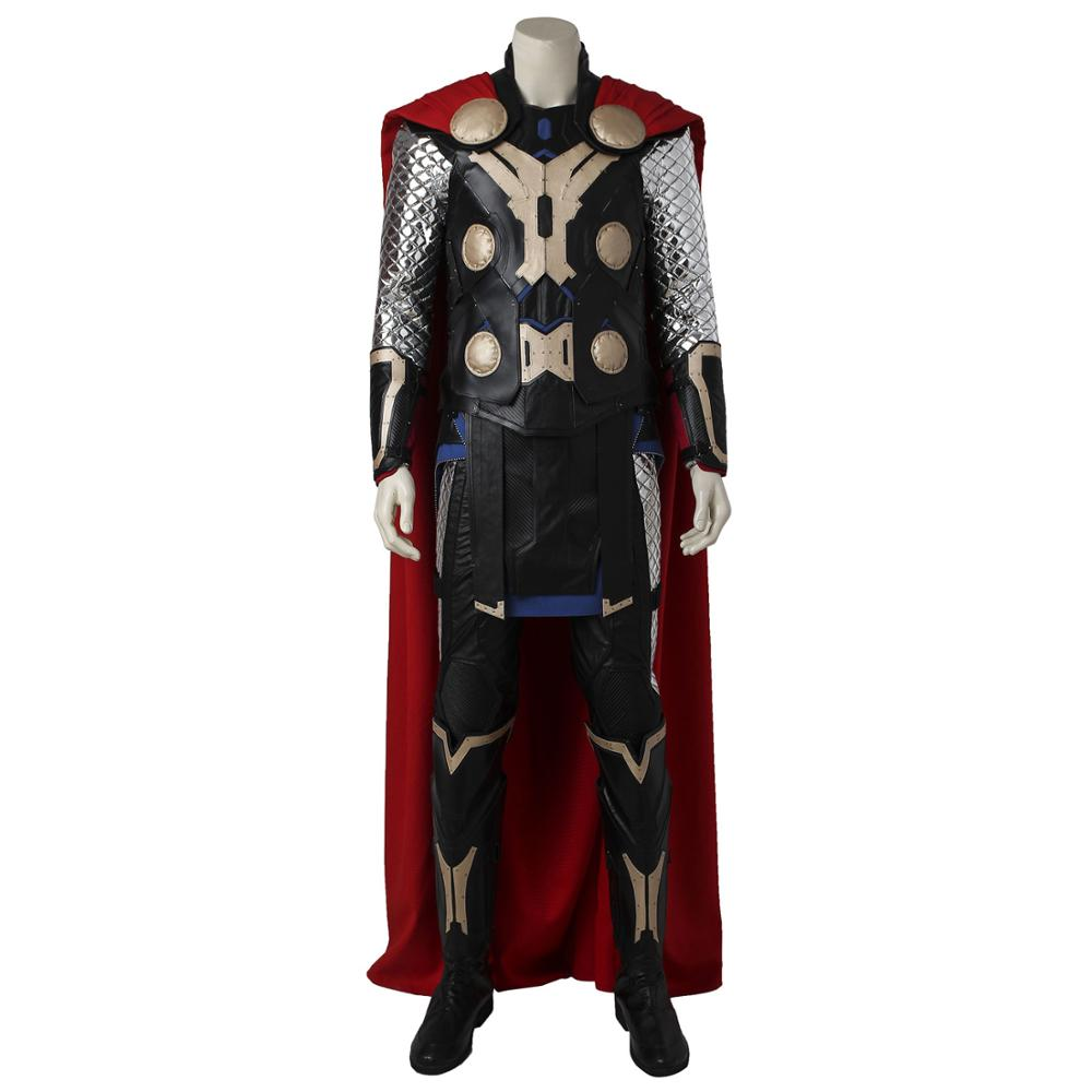 Thor Odinson Costume Thor: The Dark World Cosplay Deluxe Version Full Set Shoes Included