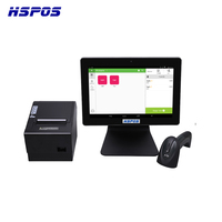 Newest Android 12inch POS Tablet Cash Register with Printer,Scanner,With Free SDK Driver for Restaurant