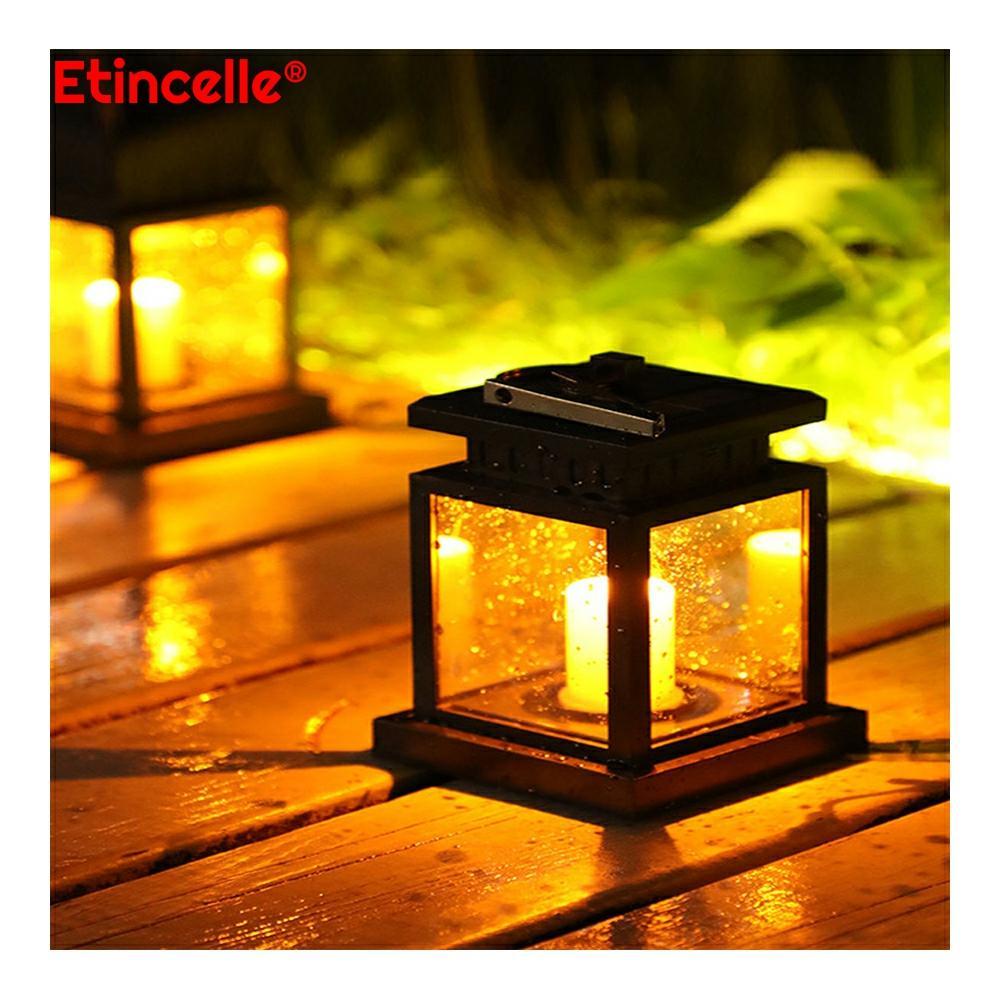 solar light outdoors luces para exterior cottagecore garden decoration lampy lantern tuinverlichting jardin lampy camping flame