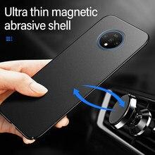 Ultra ince manyetik sert mat PC telefon kılıfı için Oneplus 8 7T 7 Pro 6T 6 5T 5 lüks buzlu koruma kapağı için 8 7 6T Coque