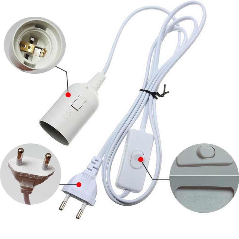 E27 Bases de lampe lampes suspendues 1.8m cordon d'alimentation câble ue/US Plug adaptateur de lampe suspendue avec fil de commutation pour pendentif E27 prise prise