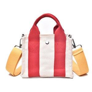 Lady Canvas Crossbody Bag Women Mini Design Bags with Weave Handbag 2020 Fashion Shoulder Bags For Female