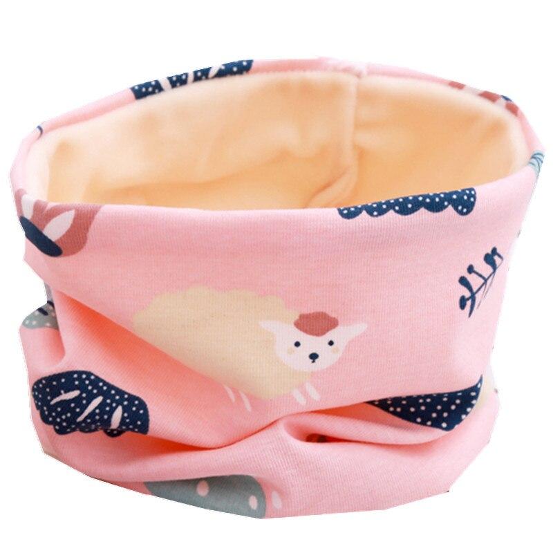 Новинка; сезон осень-зима; шарф из хлопка для девочек; Детский шарф; нагрудный шарф для мальчиков и девочек с круглым кольцом; милый детский шарф с воротником; Bufandas - Цвет: plush pink sheep