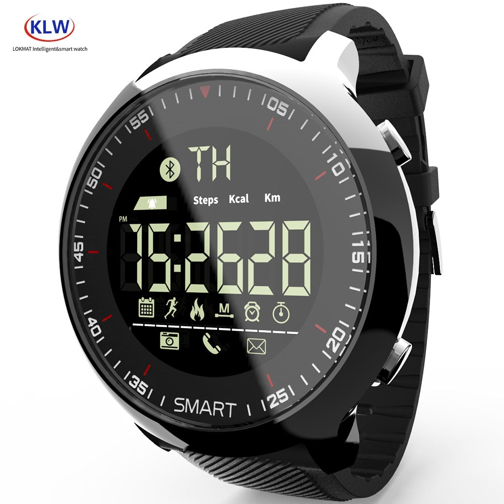 MK18 Smart Watch Sport IP68 Waterproof Pedometers Message Reminder 12 Months Standby Smartwatch for ios Android(China)