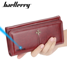 Baellerry Fahion Wallet Women PU Leather Casual Slim Womens Wallets and Purses Red Phone Card Holder Wallet