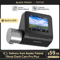 70mai-Cámara de salpicadero Pro Plus 70mai A500 con GPS incorporado, velocidad coordinada, cámara DVR para coche, Monitor de estacionamiento 24H, Control por aplicación 1944P