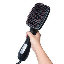 Professional Hair Dryer Brush 2 In 1 Hair Straightener Curler Comb Electric Blow Dryer With Comb Hair Brush Roller Styler(China)