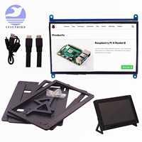 Raspberry Pi 4 Modelo B 3B Plus, pantalla táctil LCD de 7 pulgadas, 1024x600, 800x480, HDMI TFT + soporte, novedad