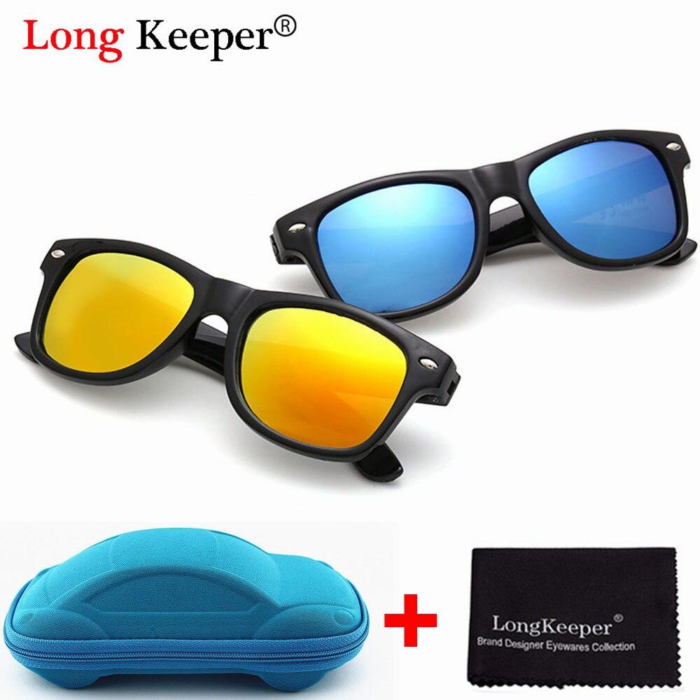Long Keeper Cool Sunglasses for Kids Sun Glasses for Children Boys Girls Sunglass UV 400 Protection with Case Children Gift