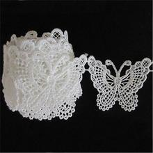 Crochet Lace-Trim Sewing Butterfly Ribbon-Fabric Craft Wedding-Dress Applique Polyester