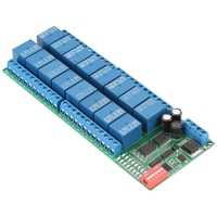 DC12V Relay 16 Channel RS485 Relay Module RTU Relay Board PLC Controller Serial Port Switch 485 Relay