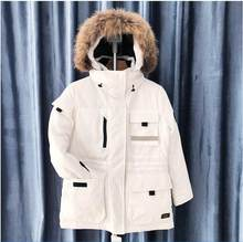 new men's winter down jacket high quality fur collar coat mocnclair hat and fur collar male's clothing Women's down jacket(China)