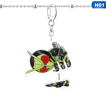 Masked Rider Keychain Decade Build Cute Funnf Cartoon Acrylic Key Chain Anime Jewelry Personality Creative Backpack Pendant image