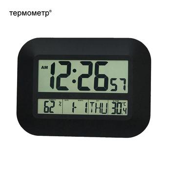 Dekoracyjne cyfrowa ściana budzik stół kalendarz biurkowy temperatury termometr higrometr zegar ze sterowaniem radiowym tanie i dobre opinie TEPMOMETP Krótkie KN2149 KN2708 KN2152 Plac Cyfrowy 18 5cm Pojedyncze twarzy 250mm 320g Zegary ścienne 25mm grubości płyty