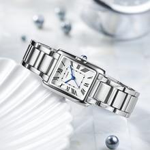 Reloj de moda sencillo para mujer y niña, reloj de cuarzo resistente al agua, banda de acero, relojes pequeños para estudiantes