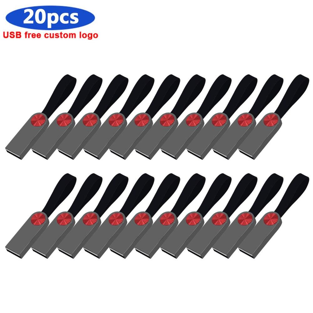 Bulk 20pcs custom logo pen drive usb flash 32GB 16GB pendrive memory stick 64gb 128gb 256gb 4GB 8GB U stick memoria cel usb gift