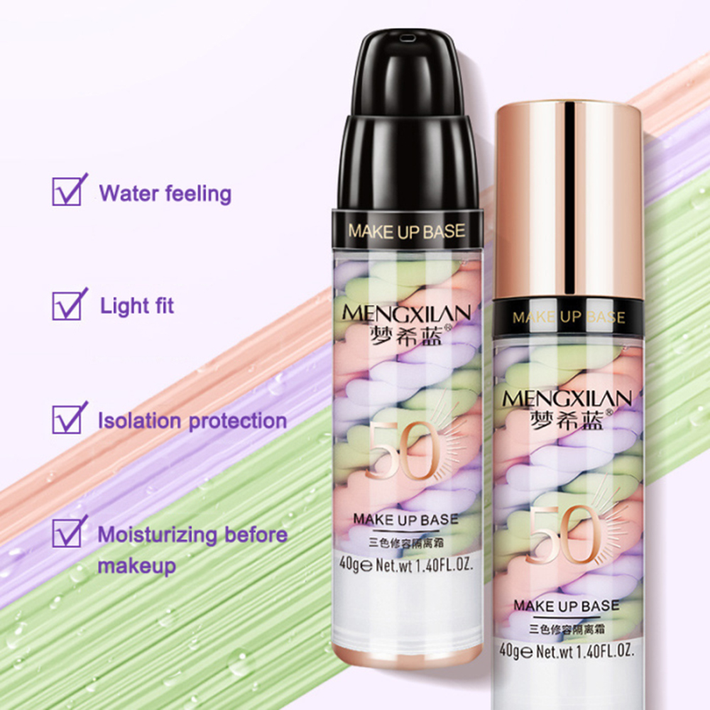 Face Base Primer Cream Liquid Makeup Brightening Concealer Oil Control Refreshing Cream Foundation Women Beauty Makeup Cosmetic