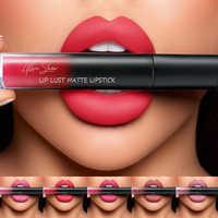 12 colori di Seta Matte Lip Gloss Rossetto di Trucco del Labbro Sexy Impermeabile di Lunga Durata Shimmer Nude Rossetto Liquido Rossetto Opaco