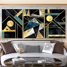 Modern Poster and Print Wall Art Canvas Painting Decoration Living Room Bedroom Office Irregular Golden Line Picture Home Decor canvas painting primeval forest landscape wall artposter and print modern home decoration wall picture living room office decor