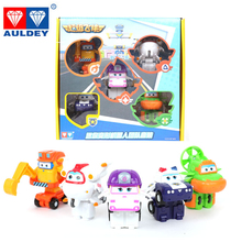 5pcs/set Super Wings Model Mini Planes Toy Transformation Airplane Robot Action Figures Toys for Children lastest listing mini wooden super wings deformation airplane robot action figures transformation toys for children gift