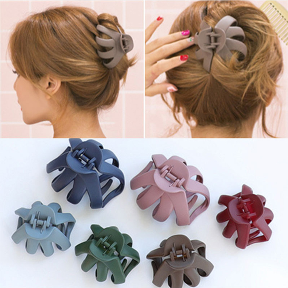 Korean Fashion Women Scrub Hairpin Simple Large Matte Hair Clip Claws Bathing Disk Hair Grips Hair Accessories 6 Colors