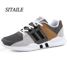 SITAILE Spring and Autumn Fashion Vintage Sneakers Men Breathable Mesh Casual Shoes Comfortable Tenis