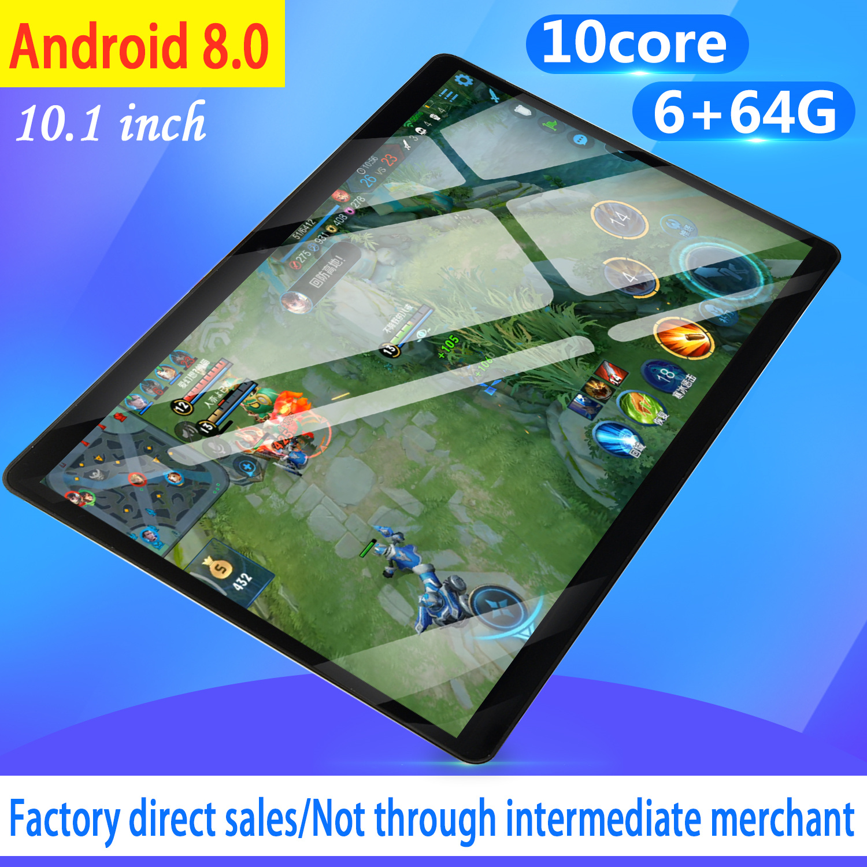 2020 Newest 10.1 Inch 4G LTE Tablet MT8752 Octa Core 6GB RAM 64GB ROM Dual SIM 5.0MP GPS